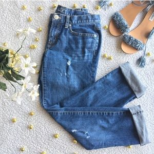 Ann Taylor LOFT • Boyfriend Style Distressed Jeans